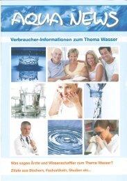 Aqua News Oktober 2011 - Lebenskraft Wasser eV