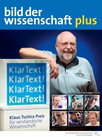 Schlechte Nachrichten für Gedankenleser - Klaus Tschira Preis für ...