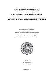 Untersuchung von Cyclodextrinkomplexen - OPUS - Universität ...
