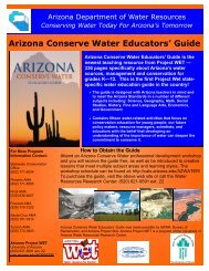 Arizona Conserve Water Educators' Guide - Arizona Department of ...