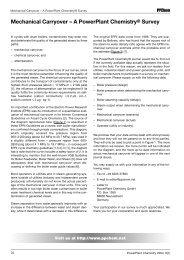 Mechanical Carryover – A PowerPlant Chemistry® Survey