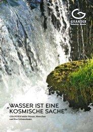 GRANDER Imagebroschüre - Grander - belebtes Wasser