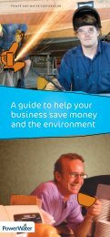 A guide to help your business save money and the environment