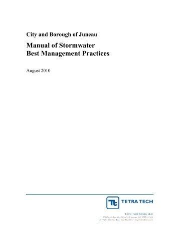Manual of Stormwater Best Management Practices - Juneau ...
