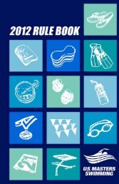 U.S. Masters Swimming Rule Book 2012 - TeamUnify