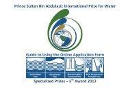 Prince Sultan Bin Abdulaziz International Prize for Water Guide to ...