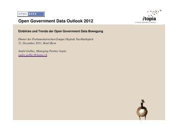 Open Government Data für die Schweiz - itopia