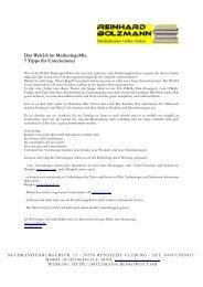 Das Web2.0 im Marketing-Mix 7 Tipps für Unternehmer - Reinhard ...