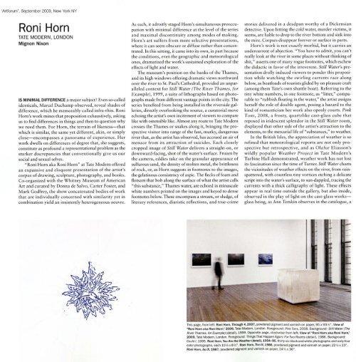 Roni Horn - Hauser & Wirth