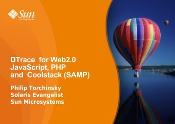 DTrace for Web2.0 JavaScript, PHP and Coolstack (SAMP)