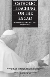 Catholic Teaching on the Shoah - United States Conference of ...