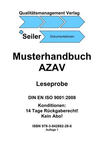 Musterhandbuch AZAV