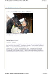 Seite 1 von 3 Swiss Horse Management: Beratung ... - JFD Training