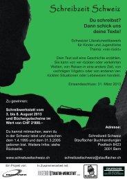 SchreibzeitSchweiz 2013