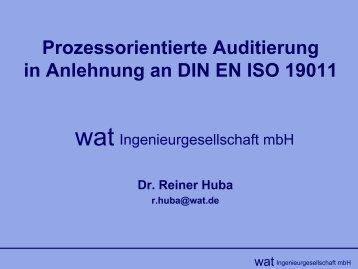 Prozessorientierte Auditierung in Anlehnung an DIN EN ISO 19011