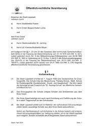 Öffentlich-rechtliche Vereinbarung Kreis Soest - Lippstadt