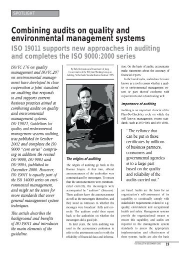 Combining audits on quality and environmental ... - NAErg