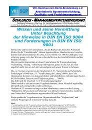 DIN EN ISO 9001, 6.2.2 - (VDI) Berlin-Brandenburg