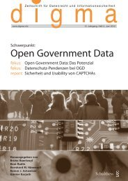 Schwerpunkt: Open Government Data - itopia