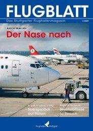 Flughafen Stuttgart/ Flugblatt
