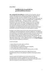 Buddhistische Sexualethik - Tibetischer Buddhismus im Westen