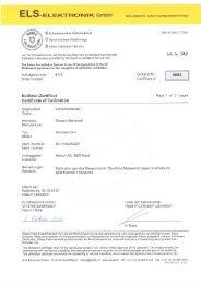 S Schweizerischer Kalibrierdienst EN lSOrilEC 17025 - Hettich AG, CH