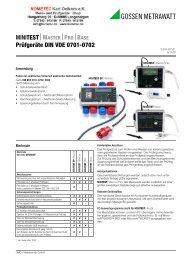 Prüfgeräte DIN VDE 0701-0702