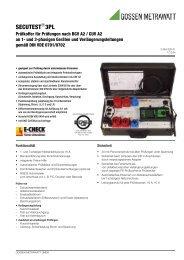 3PL Prüfkoffer für Prüfungen nach BGV A2 gemäß DIN VDE 0701 ...