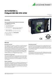 METRATESTER 5+ Prüfgerät DIN VDE 0701-0702 - GOSSEN ...