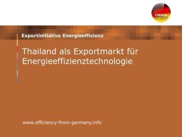 Marktattraktivität in Thailand - GIZ