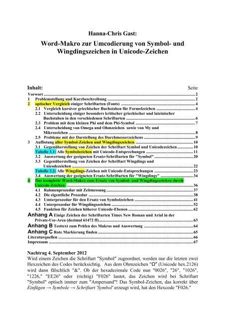 form 8992 final  Symbol+Wingdings in Unicode umwandeln - Siebener Kurier