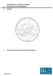 (II-3-2) Gestaltung, Herstellung und Prüfung der ... - GL Group