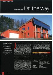 Solar houses - Jenni Energietechnik AG