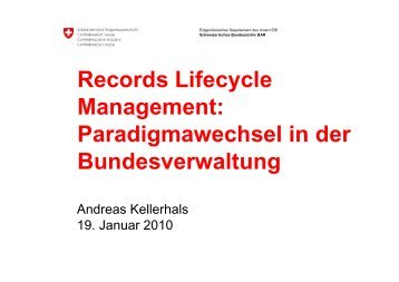 Records Lifecycle Management: Paradigmawechsel in der - itopia