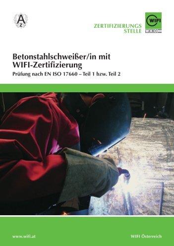 Betonstahlschweißer/in, Folder 2012 - Wifi