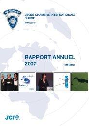 RAPPORT ANNUEL 2007 - Junior Chamber International Switzerland