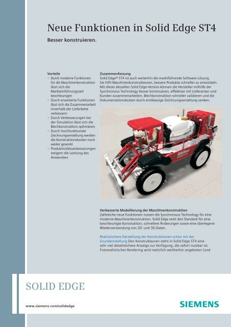 Solid Edge ST4 What's new Fact Sheet (German) - Solid System Team