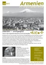 Armenien – unberührt unvergänglich - Jojo Reisen