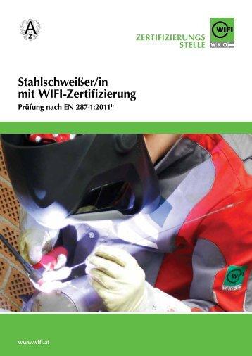 Stahlschweißer/in mit WIFI-Zertifizierung