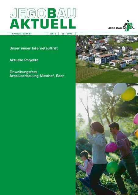 Unser neuer Internetauftritt Aktuelle Projekte ... - Jego AG