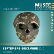 Programme SEPTEMBRE /DÉCEMBRE 2012 - Jura Tourisme