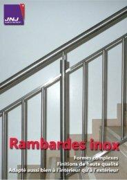Rambardes inox - JNJ automation SA