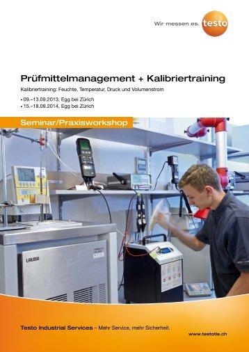 Prüfmittelmanagement + Kalibriertraining - Testo Industrial Services ...