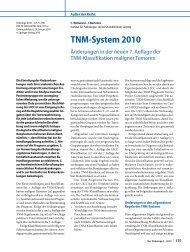 TNM-System 2010 Änderungen in der neuen 7 ... - SpringerLink