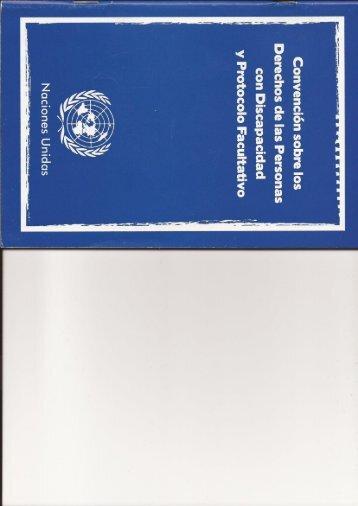 Convencion Sobre Los Derechos de las Personas con Discapacidad y Protocolo Facultativo