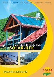 Solar-HFK – Der vielseitige Kollektor - System Sonne GmbH