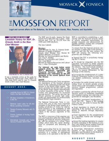 MossFon Report August 2003 for PDF.qxd - Mossack Fonseca  & Co.