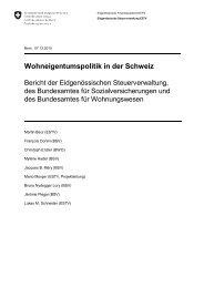 Wohneigentumspolitik in der Schweiz - Eidgenössische ...