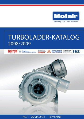 TURBOLADER-KATALOG - Motair Turbolader