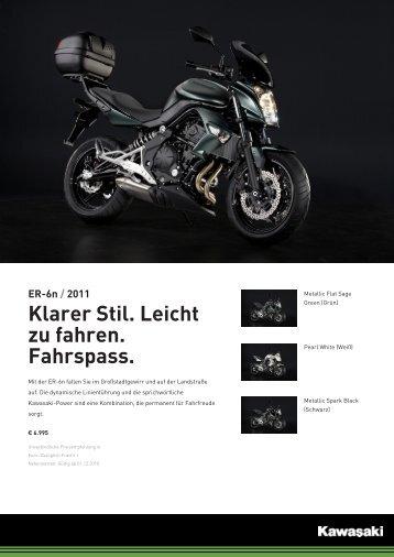ER-6n / 2011 Klarer Stil. Leicht zu fahren. Fahrspass. - Motorrad MOK